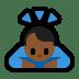 🙇🏾 person bowing: medium-dark skin tone Emoji on Windows Platform