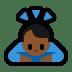 🙇🏾♂️ man bowing: medium-dark skin tone Emoji on Windows Platform