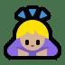 🙇🏼♀️ woman bowing: medium-light skin tone Emoji on Windows Platform