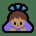 🙇🏽♀️ woman bowing: medium skin tone Emoji on Windows Platform