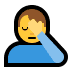 🤦‍♂️ man facepalming Emoji on Windows Platform