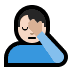 🤦🏻‍♂️ man facepalming: light skin tone Emoji on Windows Platform
