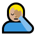 🤦🏼‍♂️ man facepalming: medium-light skin tone Emoji on Windows Platform
