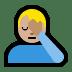 🤦🏼♂️ Medium Light Skin Tone Man Facepalming Emoji on Windows Platform