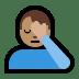 🤦🏽♂️ man facepalming: medium skin tone Emoji on Windows Platform