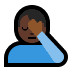 🤦🏿‍♂️ man facepalming: dark skin tone Emoji on Windows Platform