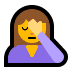 🤦‍♀️ woman facepalming Emoji on Windows Platform
