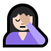 🤦🏻‍♀️ woman facepalming: light skin tone Emoji on Windows Platform