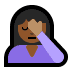 🤦🏾‍♀️ woman facepalming: medium-dark skin tone Emoji on Windows Platform