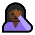 🤦🏿‍♀️ woman facepalming: dark skin tone Emoji on Windows Platform