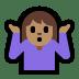 🤷🏽 person shrugging: medium skin tone Emoji on Windows Platform
