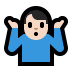 🤷🏻♂️ man shrugging: light skin tone Emoji on Windows Platform