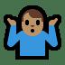 🤷🏽♂️ man shrugging: medium skin tone Emoji on Windows Platform
