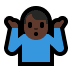 🤷🏿♂️ man shrugging: dark skin tone Emoji on Windows Platform