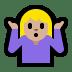 🤷🏼♀️ woman shrugging: medium-light skin tone Emoji on Windows Platform