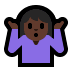 🤷🏿‍♀️ woman shrugging: dark skin tone Emoji on Windows Platform