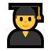 👨‍🎓 man student Emoji on Windows Platform