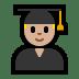 👨🏼🎓 man student: medium-light skin tone Emoji on Windows Platform