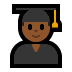 👨🏾‍🎓 man student: medium-dark skin tone Emoji on Windows Platform