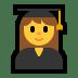 👩🎓 woman student Emoji on Windows Platform