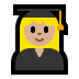 👩🏼‍🎓 woman student: medium-light skin tone Emoji on Windows Platform