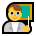 👨🏫 man teacher Emoji on Windows Platform