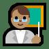 👨🏽🏫 man teacher: medium skin tone Emoji on Windows Platform