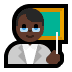 👨🏿🏫 man teacher: dark skin tone Emoji on Windows Platform