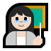 👩🏻‍🏫 woman teacher: light skin tone Emoji on Windows Platform