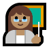 👩🏽‍🏫 woman teacher: medium skin tone Emoji on Windows Platform
