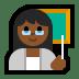 👩🏾🏫 woman teacher: medium-dark skin tone Emoji on Windows Platform