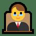 👨⚖️ man judge Emoji on Windows Platform