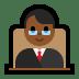 👨🏾⚖️ man judge: medium-dark skin tone Emoji on Windows Platform