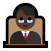 👨🏿‍⚖️ man judge: dark skin tone Emoji on Windows Platform