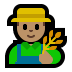 👨🏽‍🌾 man farmer: medium skin tone Emoji on Windows Platform