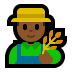 👨🏾‍🌾 man farmer: medium-dark skin tone Emoji on Windows Platform