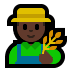 👨🏿‍🌾 man farmer: dark skin tone Emoji on Windows Platform