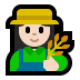 👩🏻🌾 woman farmer: light skin tone Emoji on Windows Platform