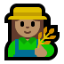 👩🏽‍🌾 woman farmer: medium skin tone Emoji on Windows Platform