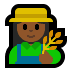 👩🏾‍🌾 woman farmer: medium-dark skin tone Emoji on Windows Platform