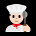 👨🏻‍🍳 man cook: light skin tone Emoji on Windows Platform