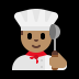 👨🏽‍🍳 man cook: medium skin tone Emoji on Windows Platform