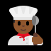 👨🏾‍🍳 man cook: medium-dark skin tone Emoji on Windows Platform