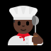 👨🏿‍🍳 man cook: dark skin tone Emoji on Windows Platform