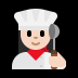 👩🏻🍳 woman cook: light skin tone Emoji on Windows Platform