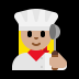 👩🏼‍🍳 woman cook: medium-light skin tone Emoji on Windows Platform