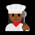 👩🏾‍🍳 woman cook: medium-dark skin tone Emoji on Windows Platform