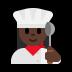 👩🏿🍳 Dark Skin Tone Female Chef Emoji on Windows Platform