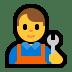 👨🔧 man mechanic Emoji on Windows Platform