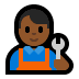 👨🏾🔧 man mechanic: medium-dark skin tone Emoji on Windows Platform